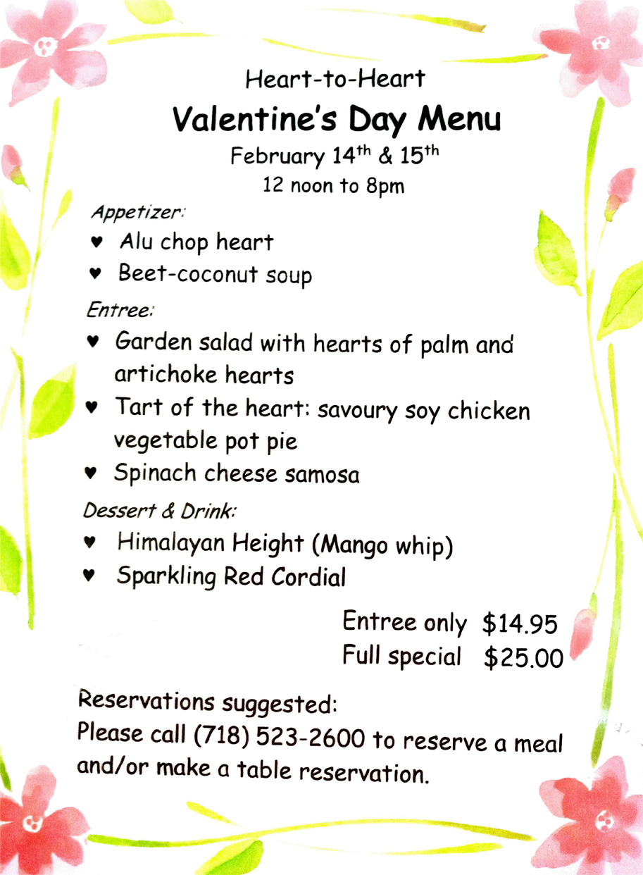 Valentine´s day full menu