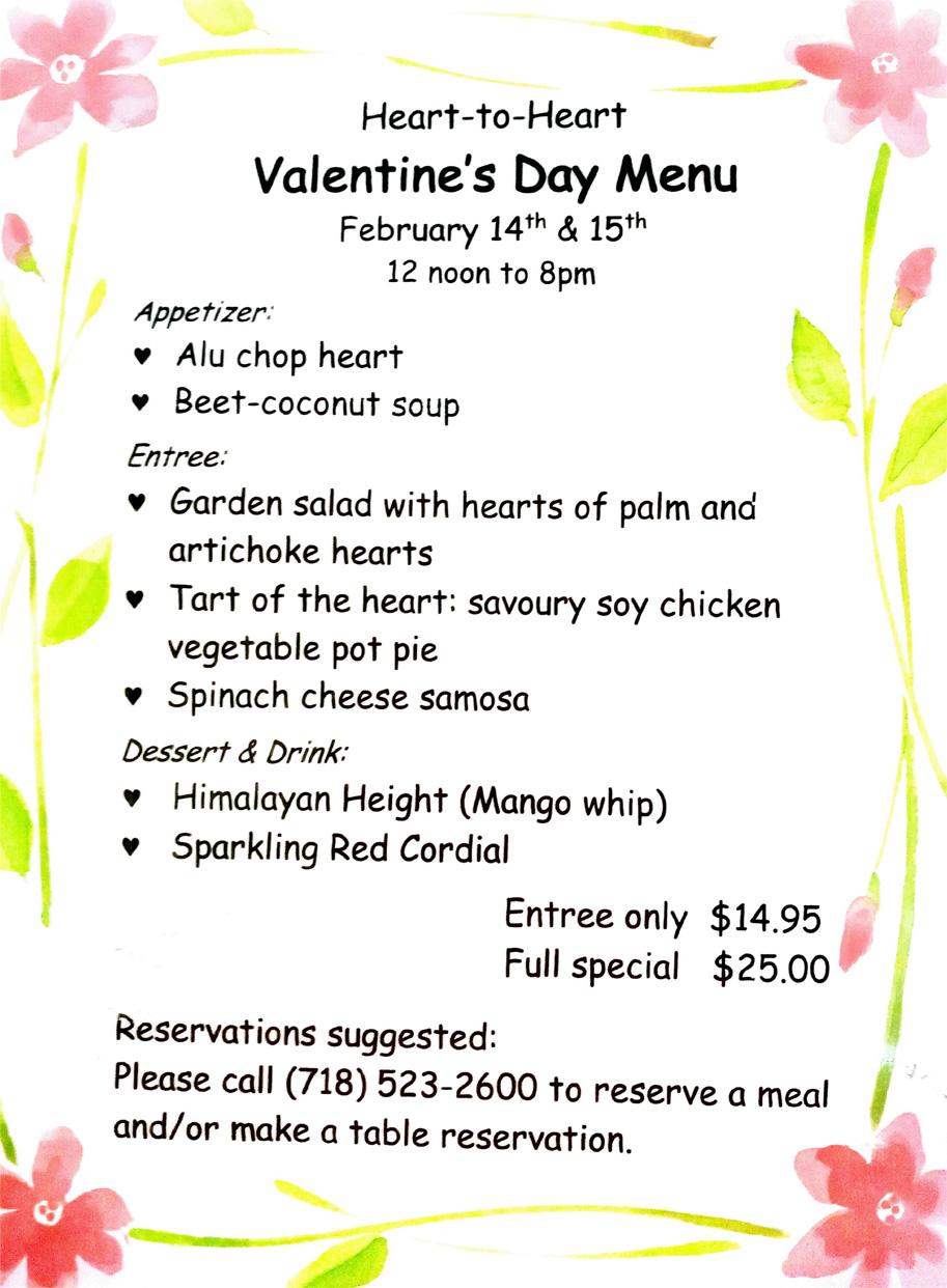 Valentine´s day full menu